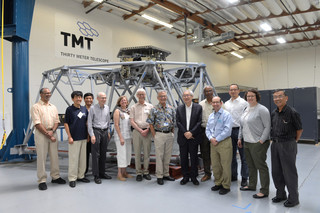 TMT International Observatory Board of Directors Visit the project's technical laboratory on 31 July, 2018.