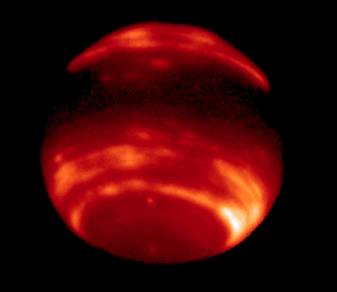 Neptune Image seen with adaptive optics