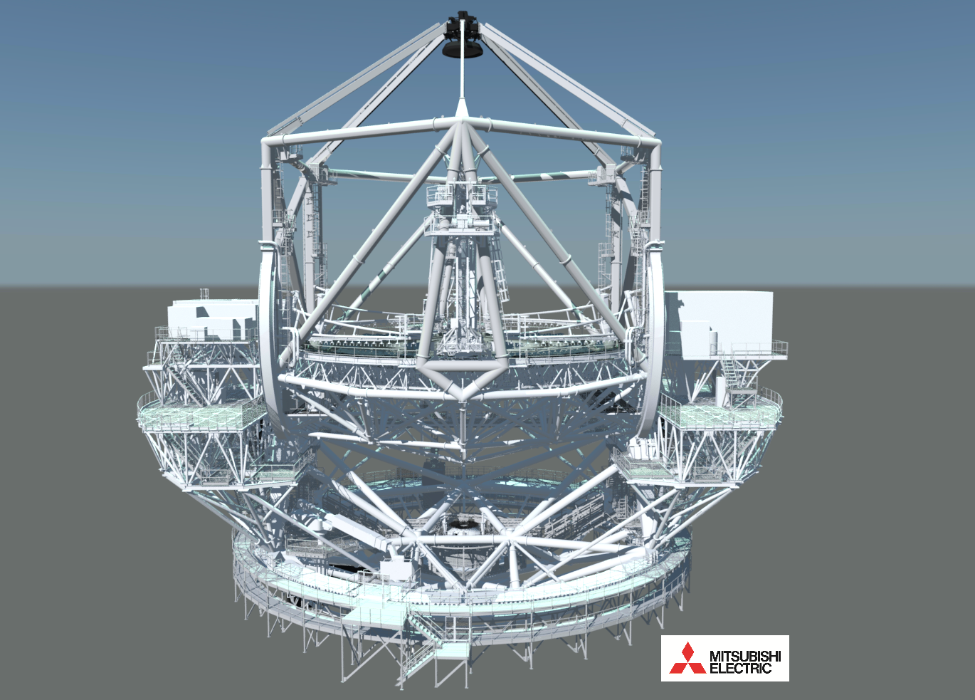 Rendering of the telescope structure design.