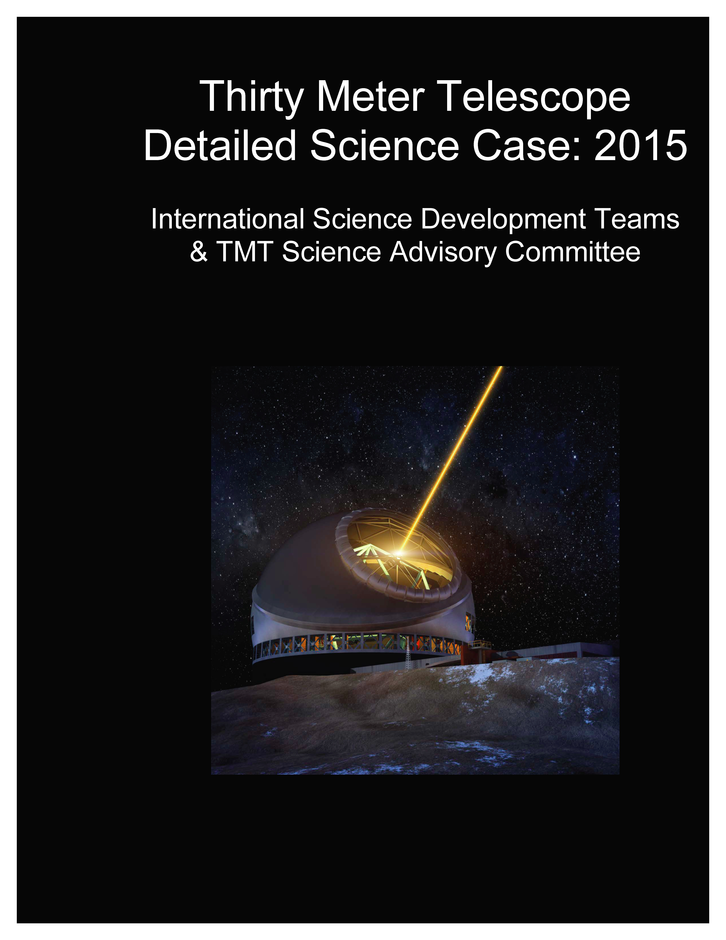 TMT's Detailed Science Case