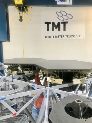First two TMT Dummy Mirror Segments installed into the Multi-Segment Integration & Test (MSIT) facility