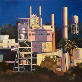 Pasadena power   a painting by tmt international observatory business manager featured in exhibition