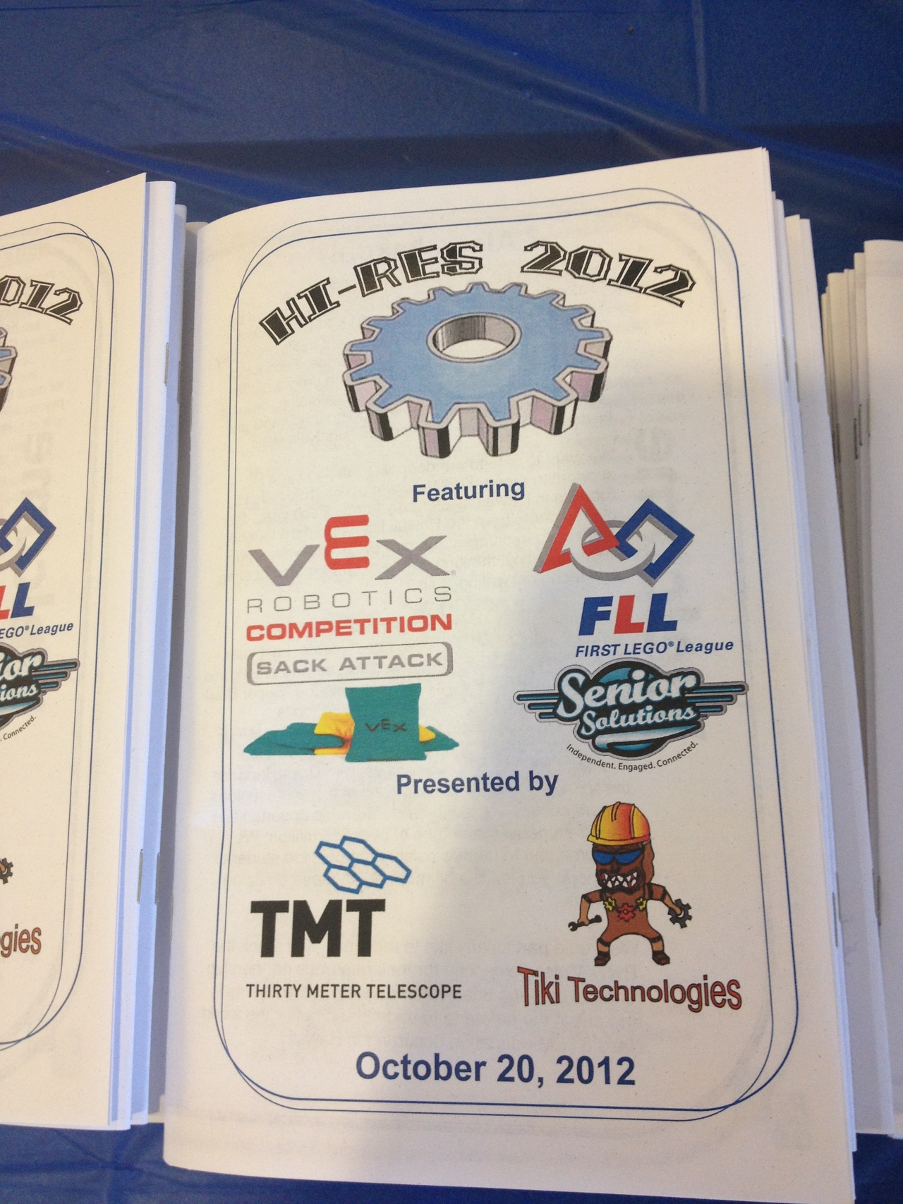 The october 2012 vex robotics tournament sponsors at kealakehe high school
