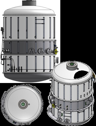 Rendering of the vacuum vessel for tmt infrared imaging spectrograph %28iris%29 science cryostat.